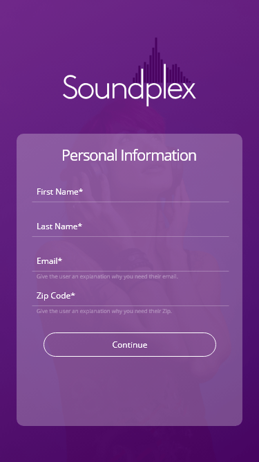 Register - Personal Information